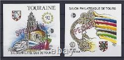 2 Blocs Cnep 92 (specimen) Touraine Salon Tours Tgv (sheet Block Feuillet)