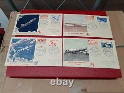 4 enveloppes 1 er jour de la poste aérienne n° 30 à 33 cote 1200 euro