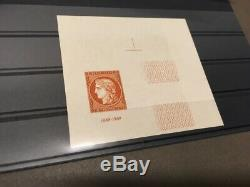 AVO! 1117 FRANCE non dentelé imperf timbre 841 CITEX 1949 ceres signé bloc