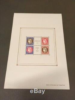 AVO! 1355 FRANCE bloc variété exposition Paris 1937 PEXIP BF 3c sheet TB