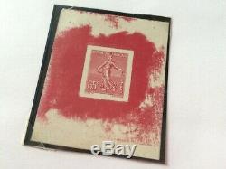 AVO! 931 FRANCE timbre °201 semeuse non émis Hourriez épreuve couleur proof