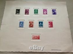 À VOS OFFRES! 247 MONACO épreuve collective artiste série timbres n°185/194