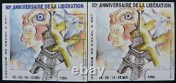 Année 1994 paire blocs carré MARIGNY n° 6,50è anniversaire Libération