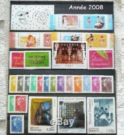 Année 2008 29 timbres autoadhésif neuf France