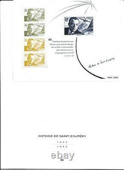 Antoine de Saint Exupéry Biennale 2021- pochette réédition du timbre de 1948