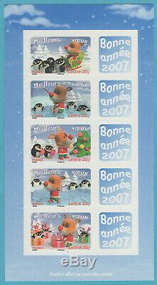 BF des Postiers F3986D Voeux Bonne Année 2007 TP Autoadhésifs Personnalisés