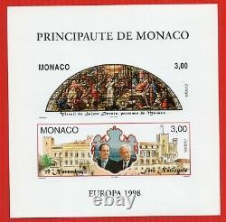 BLOCS FEUILLETS SPECIAUX MONACO N°31a EUROPA 98. NEUF SUP N. D. RARE