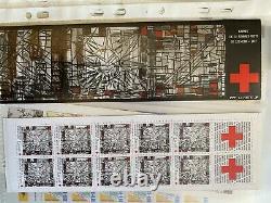 Bandes carnet, blocs, feuillets, carnets croix rouge France 1985 à 2009 neufs