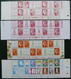 Bas des 4 feuilles neuves même numéro 4459/4472 les 40 ans Boulazac année 2010