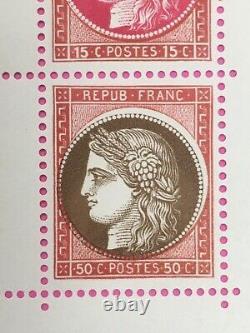 Belle Variete Decalage Impre France Timbre Bloc Feuillet N° 3 Pexip 1937 Neuf