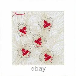 Bloc Baccarat avec poudre de cristal émis au salon du timbre 2014