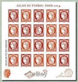 Bloc CERES 1849 Salon du timbre Paris 2014 Feuillet n°4871