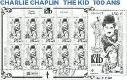 Bloc Feuillet 12 Timbres Charlie Chaplin