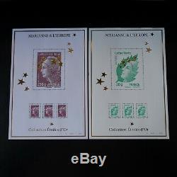 Bloc Feuillet Maxi Marianne De Beaujard N°4662a Au N°4662q Neuf Luxe Mnh