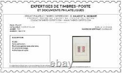 Bloc Timbre YT BF 3 France 1937 neuf Signé Calves. Exposition Paris (PEXIP)
