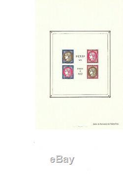 Bloc feuillet de France numero 3 PEXIP de1937