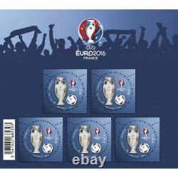 Bloc-feuillet de timbres de France N°137 UEFA EURO 2016