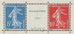 Blocs-Feuillets n°2, Strasbourg 1927, oblitéré 12/6/1927 hors-timbres SUPERBE