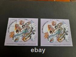 Blocs-feuillets Carre Marigny Jazz N° 5 De 1993 Dentele Et Non Dentele Ttb