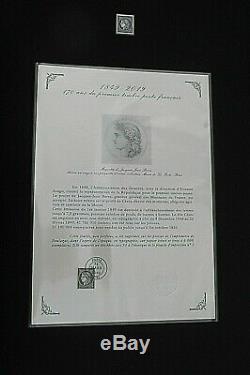 COFFRET PRESTIGE 170 ans PREMIER TIMBRE FRANCAIS CERES NOIR FEUILLE 150 TIMBRES
