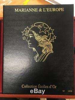 Coffret Blocs Marianne Collection Etoiles D' Or Salon Parc Floral 2012