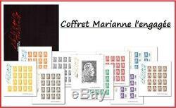 Coffret Marianne l'Engagée 2018 Salon d'Automne 10 blocs-feuillets