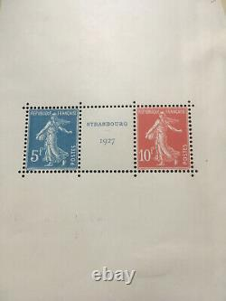 Exposition Philatélique de Strasbourg 1927 Paire avec intervalle