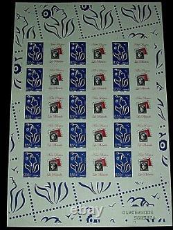 FEUILLET Adhesif personnalisé La Mouche 0,55 bleu, Cote 750,2005, n12