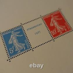 FEUILLET SHEET BLOC N°2a EXPOSITION STRASBOURG 1927 NEUF LUXE MNH COTE 2000