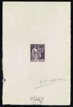 FRANCE 1932/39 Epreuve d'artiste, type Paix 1f50, Yvert#288 Signé RARE