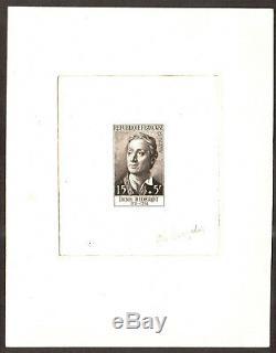 FRANCE 1958 Denis Diderot (1713-1784), YVert 1168 Epreuve d Artiste signé