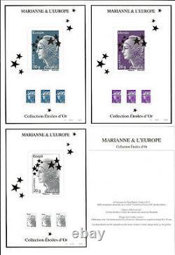 FRANCE 2012 Coffret 15 feuillets Maxi Marianne variété sur valeurs lettre verte
