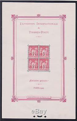 FRANCE BF 1 EXPOSITION PARIS 1925 NEUF xx TTB VALEUR 5500