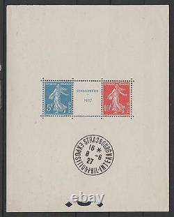FRANCE BLOC FEUILLET 2 a STRASBOURG 1927 NEUF xx AVEC CACHET EXPO. TTB N168A