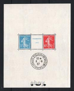FRANCE BLOC FEUILLET 2 a STRASBOURG 1927 NEUF xx AVEC CACHET EXPO. TTB R759