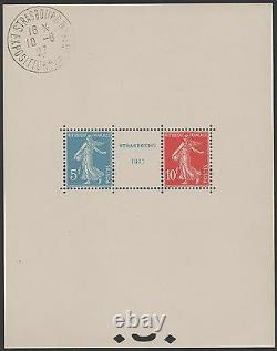 FRANCE BLOC FEUILLET 2 a STRASBOURG 1927 NEUFxx CACHET EXPO HORS TIMBRES J844