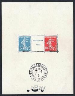 FRANCE BLOC FEUILLET 2a STRASBOURG 1927 NEUF xx AVEC CACHET EXPOSITION M790A