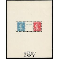 FRANCE BLOC FEUILLET N°2 EXPOSITION PHILATELIQUE DE STRASBOURG 1927 NEUF Côte