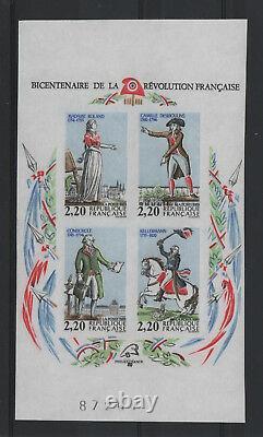 FRANCE BLOC FEUILLET YVERT 10a REVOLUTION 1989 NON DENTELE NEUF xx LUXE T437