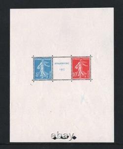 FRANCE BLOC FEUILLET YVERT 2 EXPOSITION STRASBOURG 1927 NEUF xx A VOIR R951