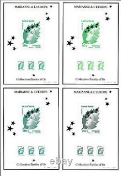 FRANCE Maxi Marianne coffret 15 feuillets Salon 2012 papier spécial lettre verte