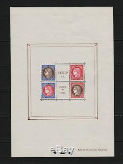FRANCE STAMP TIMBRE BLOC FEUILLET 3 PEXIP 1937 NEUF xx TB VALEUR 800 R526