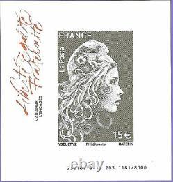 FRANCE Salon 2018 coffret 10 feuillets Marianne engagée F5248A/5254A-5257A/5258B