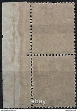 FRANCE mouchon 1900 n°113d coin de feuille chiffre décalé sortant du cadre, fr