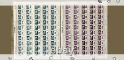 Feuille de timbres Marianne l'engagée Europe et Monde surchargé 6000 exemplaires
