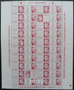 Feuillet Impression typographique n°4459/4460 2 têtes-bêches Boulazac 2010