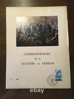 Feuillet série Limitée Cinquantenaire de la victoire de Verdun 28 mai 1966