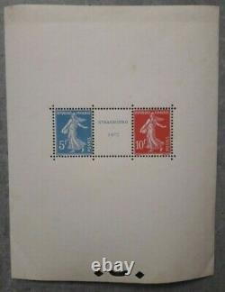 France, 1927, Bloc de Strasbourg N°2 Neuf sans charnière, côte 3500