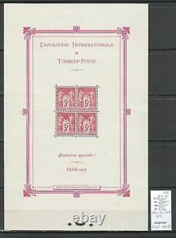 France BLOC FEUILLET No1 -Exposition inter Paris 1925 SANS CHARNIERE