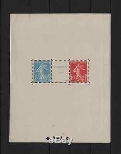 France Bloc Feuillet 2 Expo. Philatelique Strasbourg 1927 Neuf Tb A Voir R139